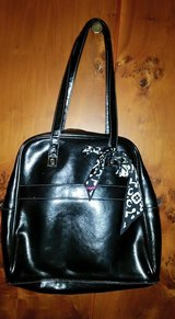 Thirty One Black Medium Leather Purse with scarf and dust cover bag in Spangdahlem, Germany