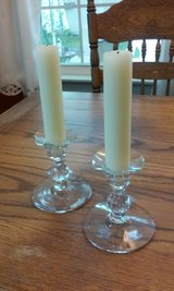 crystal candle holders with candles in Glendale Heights, Illinois