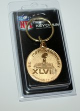 *** Super Bowl XLVIII Logo Highland Mint Brass Key Chain *** NEW in Fort Lewis, Washington
