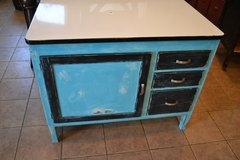 Shabby Distressed Kitchen Island Hoosier Cabinet in Plainfield, Illinois