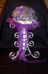 New Handmade Jewelry Bridal Wedding Bouquet - Purples - $150.00 in Houston, Texas