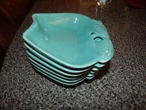 Vintage Hoenig of Calif Aqua Blue Pottery Set (Missing Bowl) in Fort Campbell, Kentucky