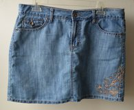 Womens Blue Denim Skirt Faded Glory Size 10 in Naperville, Illinois