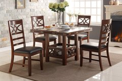 5PC DINING SET W EXPANDABLE LEAF FREE DELIVERY in Huntington Beach, California