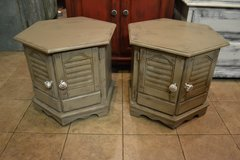 Shabby Rustic Distressed End Tables Nightstands with storage in Joliet, Illinois