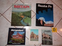 collection of travel books in Conroe, Texas