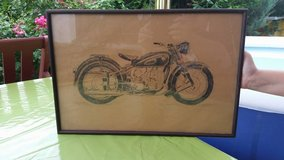 Old Motorcycle Drawing 12 by 18 Inch in Wiesbaden, GE