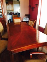Dining room 6 chairs  and hutch cabinet Cherry wood in Fort Bliss, Texas