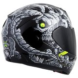 New Motorcycle Helmet Scorpion Dr Sin Snell DOT black skull in San Ysidro, California