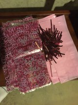 Pink and heart pattern cellophane treat bags with twist ties in Lockport, Illinois
