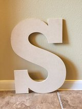 Wooden letter in Conroe, Texas