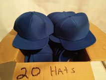 20 BRAND NEW BLUE BASEBALL HATS. REDUCED in Aurora, Illinois