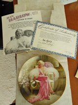 Jean Harlow as Kitty in Dinner at Eight, collectors plate-new in Joliet, Illinois