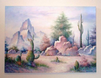 LARGE oil painting on canvas in CyFair, Texas