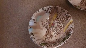 2 Soup Salad Bowls Vintage Dickens WH Grindley Staffordshire Coaching in Sacramento, California
