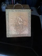 Antique Coal Box embossed brass Scuttle in Sacramento, California