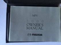 2000 Mazda MPV owner's manual in Spring, Texas