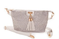 New - White Studded Messenger Purse in Ramstein, Germany