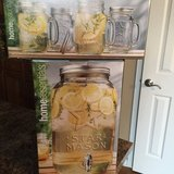 Beverage dispenser and matching mason mugs in Naperville, Illinois