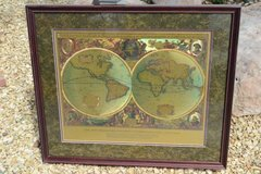 World Map Gold Tones in Alamogordo, New Mexico