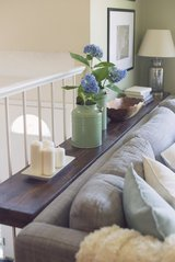 Wood console entry sofa table shelf in Camp Lejeune, North Carolina