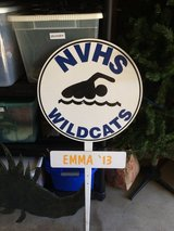 NVHS Swimming yard sign in Glendale Heights, Illinois