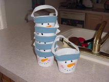 Snowman Felt Buckets (6) in Alamogordo, New Mexico