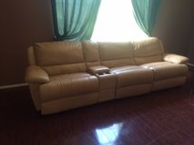 Genuine Leather Sofa - Recliner in Houston, Texas