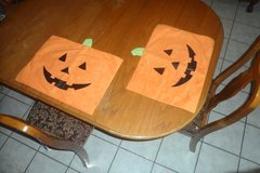 Halloween Pumkin Jack-o-lantern Table Placemats in El Paso, Texas