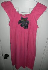 Girls 14/16 Hand Painted Toothless How To Train Your Dragon Pink Dress in Kingwood, Texas