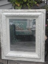 Vintage shabby chic white mirror in Bolingbrook, Illinois
