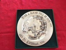 Solid pewter holiday plate in Naperville, Illinois