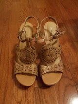 REDUCED***Ladies High Cork Heel Shoes***SZ 8.5 in The Woodlands, Texas