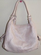 REDUCED ***Pink Champagne NY&C Tight Weave Handbag/Purse*** in The Woodlands, Texas