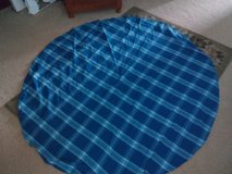 Blue round table cloth in Naperville, Illinois