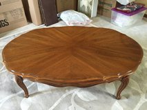 Thomasville Oval Oak coffee table in St. Charles, Illinois