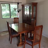 Table and China cabinet in Naperville, Illinois