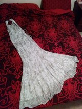 Silk beaded gown in Lake Elsinore, California