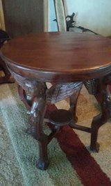 Oval Table Hand Carved in Alamogordo, New Mexico
