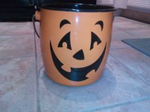 Halloween tin candy bucket in Naperville, Illinois