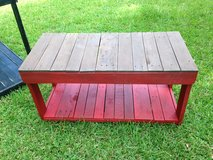 Wood pallet bench shelf Rustic table porch in Camp Lejeune, North Carolina