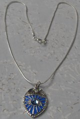 Police Badge Pendant with Blue Crystal on Silver Serpentine Chain Donating Made to Police Charit... in Houston, Texas