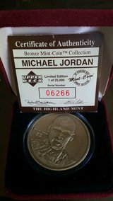 *** MICHAEL JORDAN Bronze Coin from Highland Mint w/case and C.O.A. *** in Fort Lewis, Washington