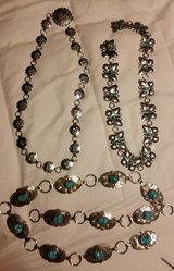 4 silver n turquoise cowgirl belts in Alamogordo, New Mexico