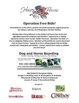 Free Riding Lesson for Military, Veterans, EMT, Firefighters in Dover, Tennessee