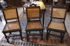 set of 3 elegant Henri II chairs with barley twist in Spangdahlem, Germany