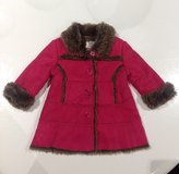 Hot Pink Faux Suede Fur Coat 12m in Clarksville, Tennessee