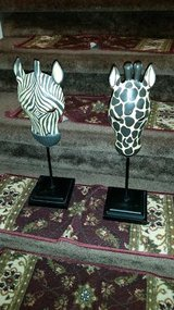 Zebra Statue Stand Set in Fort Campbell, Kentucky