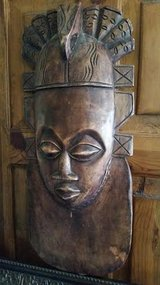 African Wood Mask Wall Hanging in Fort Campbell, Kentucky