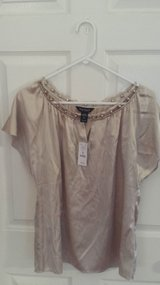 WHBM Silk Champagne Blouse in Glendale Heights, Illinois
